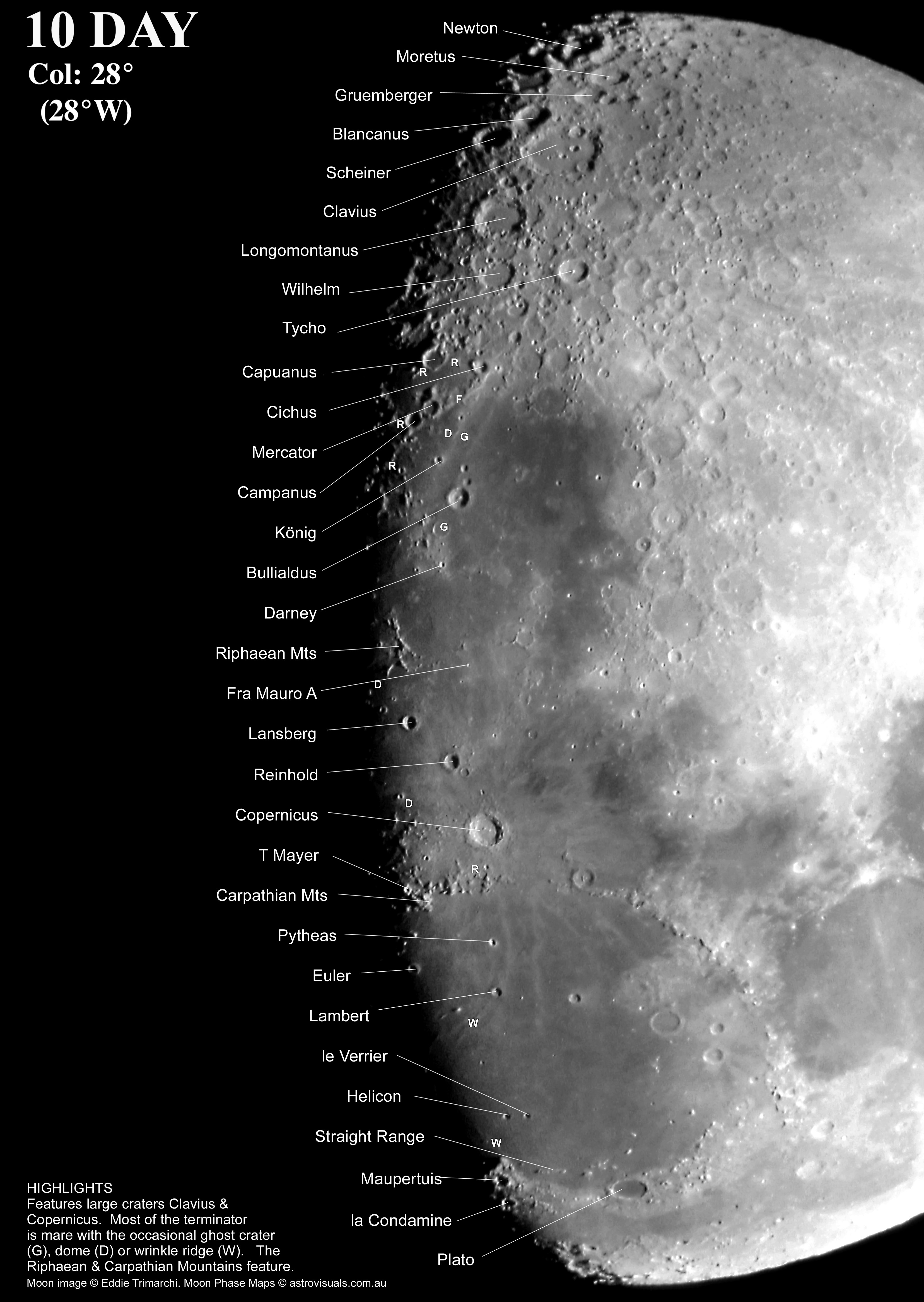 Moon To Moon Moroccan Home: Moon Phases Maps For Binocular View