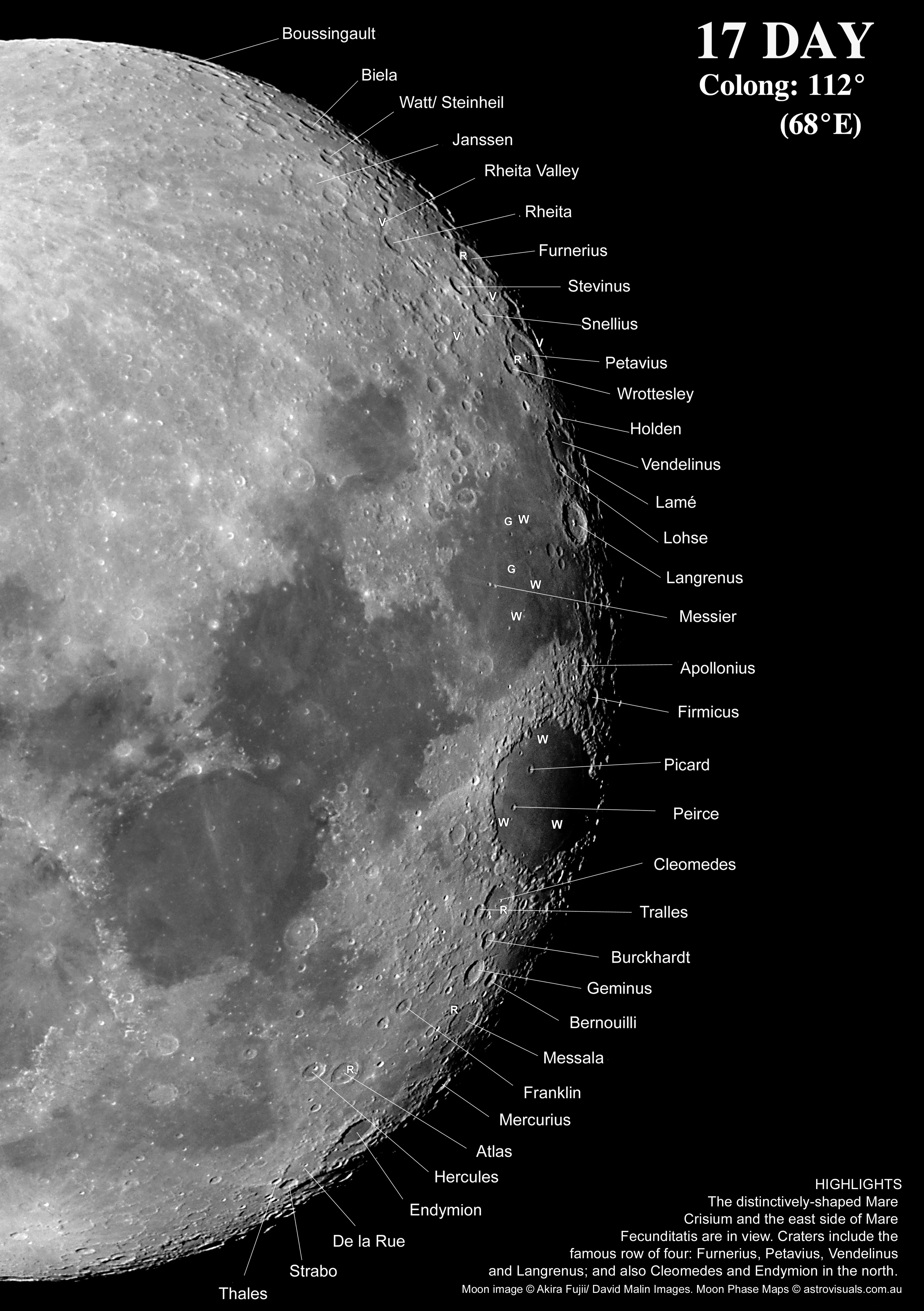 Moon Phases Maps For Binocular View Derekscope