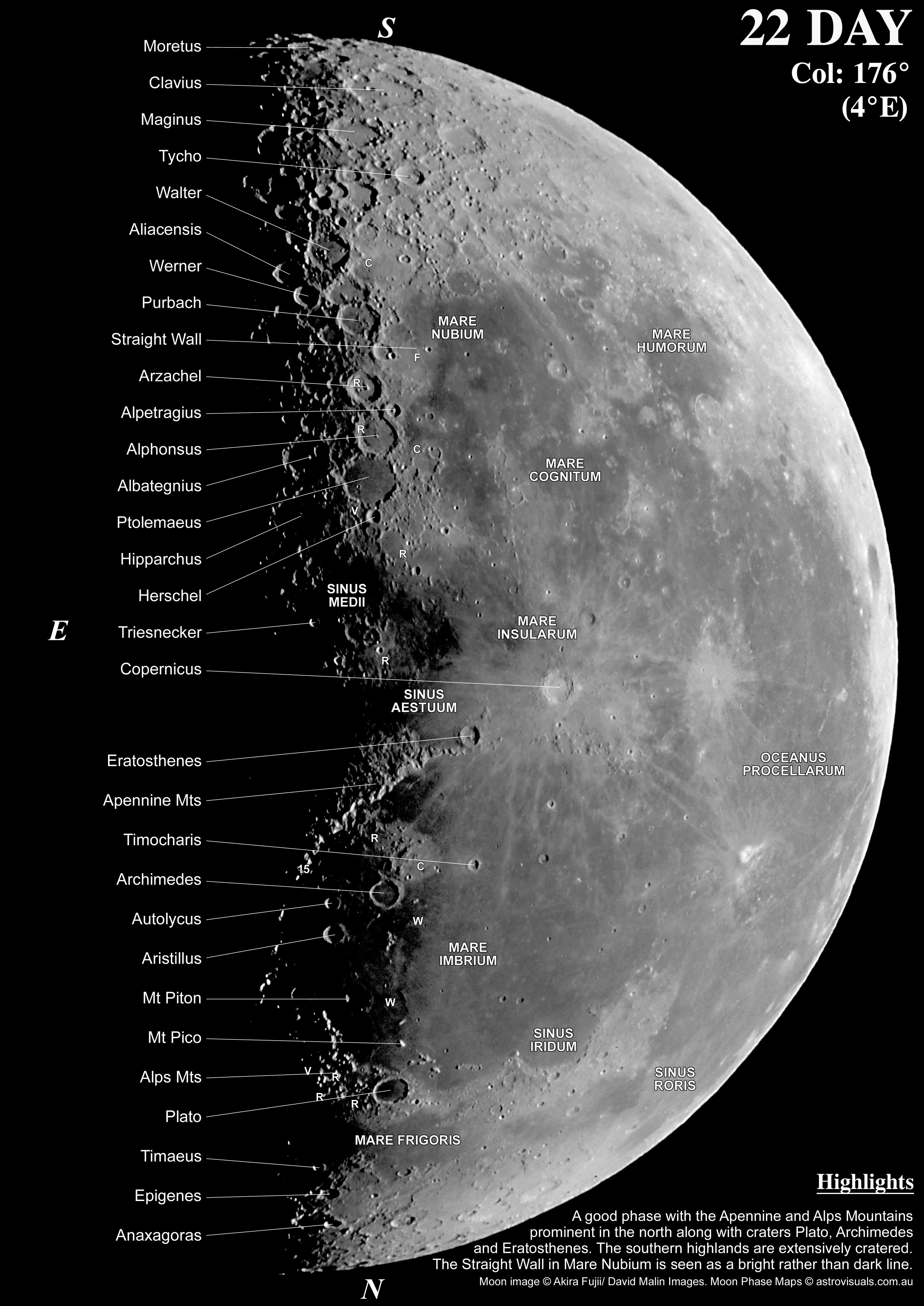 Moon Phases Maps For Telescope View Derekscope