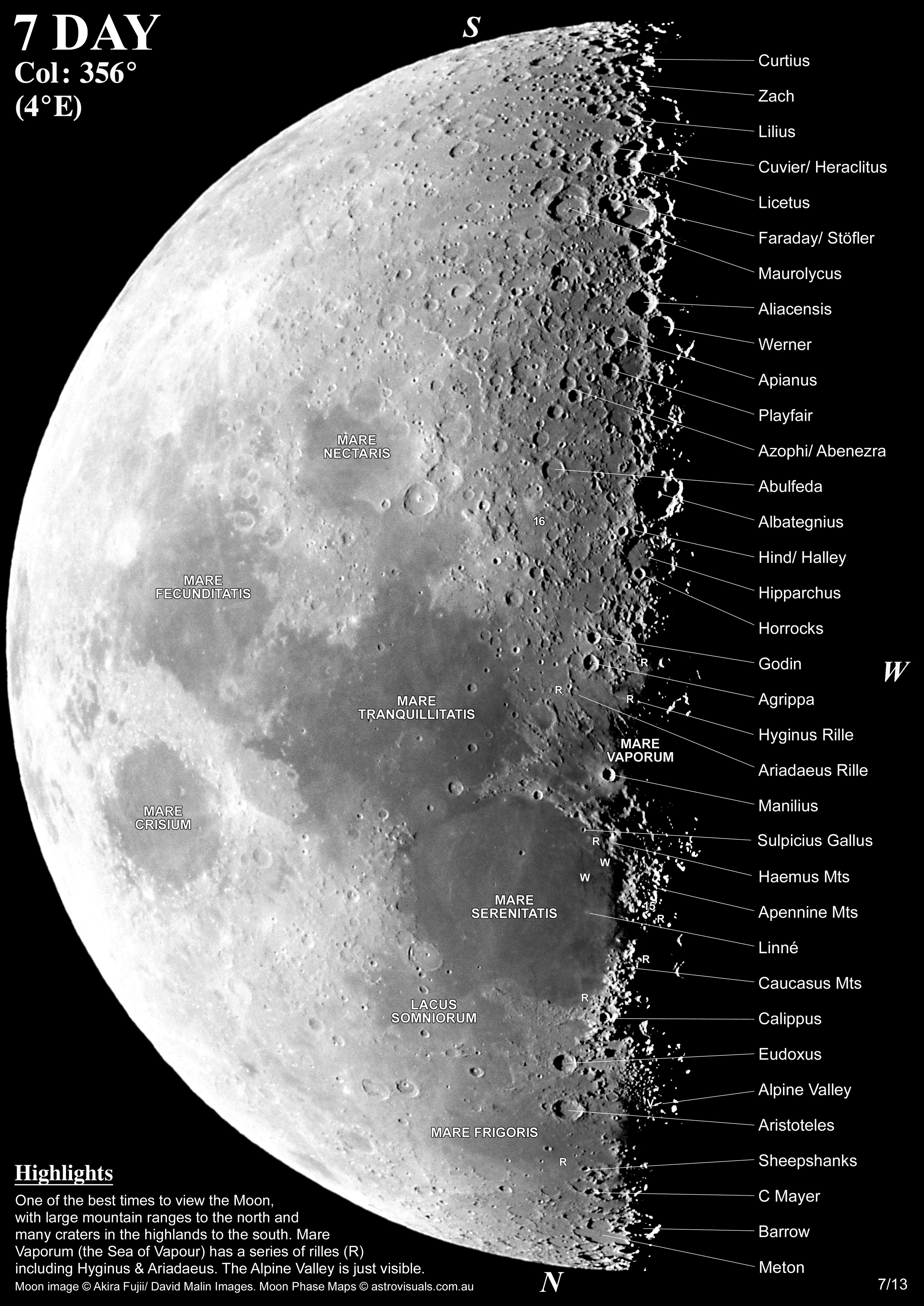 Moon Phases Maps For Telescope View  U2013 Derekscope