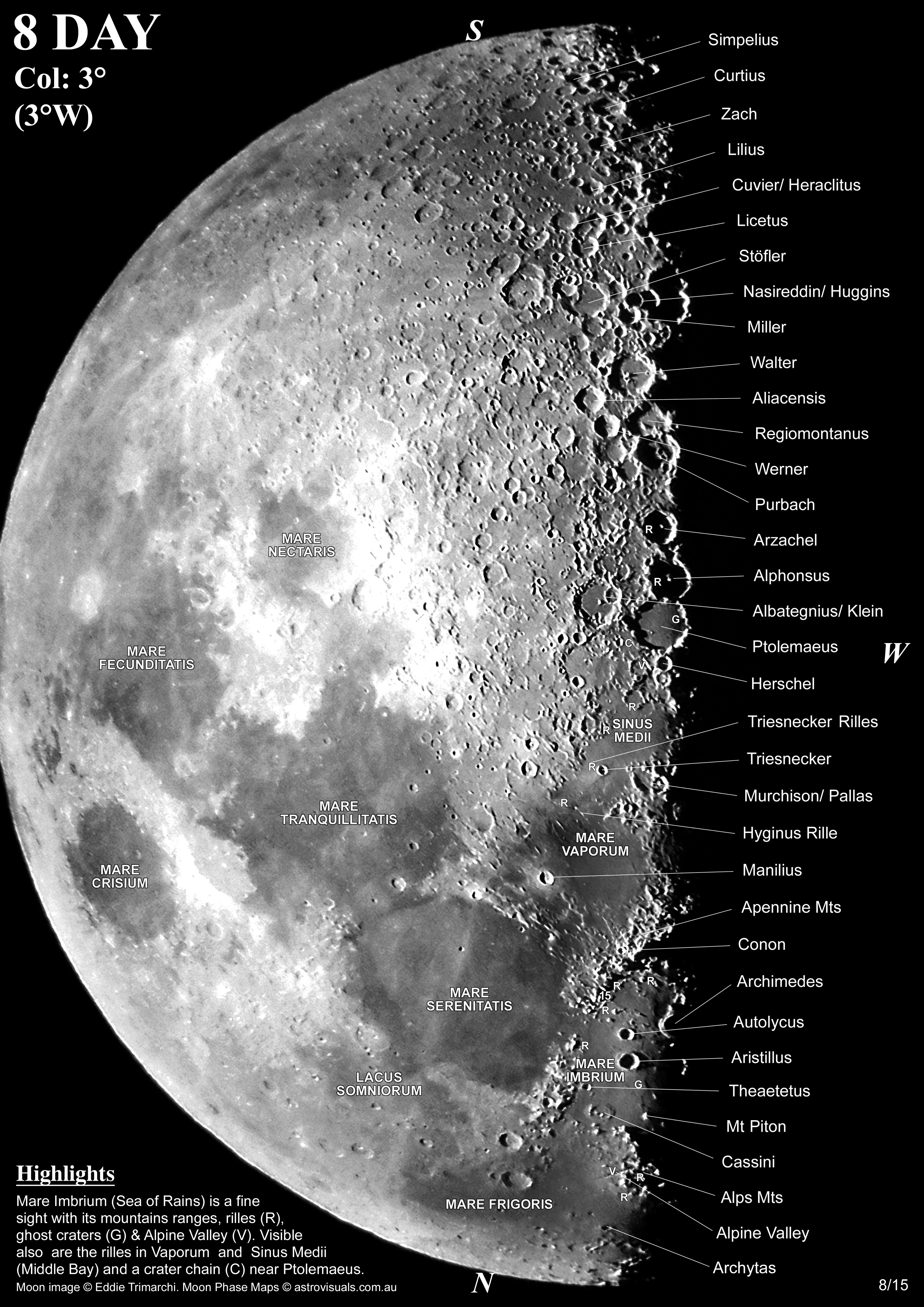 Moon To Moon Moroccan Home: Moon Phases Maps For Telescope View