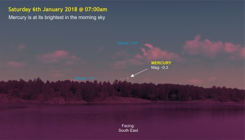 180106-008 Mercury is at its brighest in the morning sky