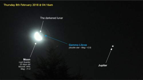 180208-000 Gamma Librae re-appeared at the side