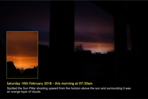 180210-000 Sun Pillar at Milton Keynes this morning